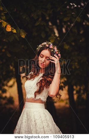 Beautiful Brunette Bride