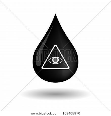 Vector Oil Drop Icon With An All Seeing Eye