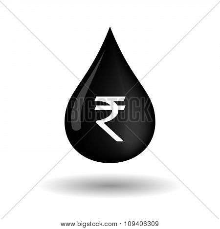 Vector Oil Drop Icon With A Rupee Sign
