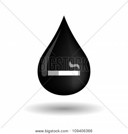 Vector Oil Drop Icon With A Screw