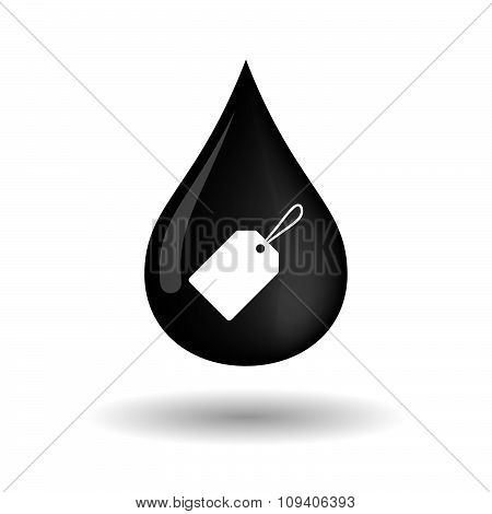 Vector Oil Drop Icon With A Label