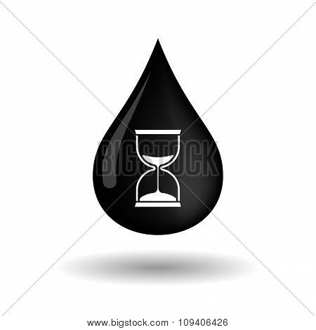 Vector Oil Drop Icon With A Sand Clock