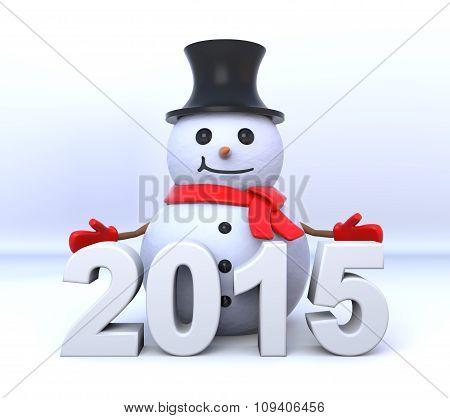 Small 3D Snowman 2015