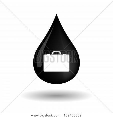 Vector Oil Drop Icon With A Chemical Weapon Sign