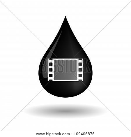 Vector Oil Drop Icon With A Film Photogram