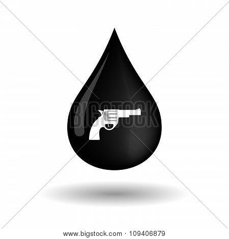 Vector Oil Drop Icon With A Gun