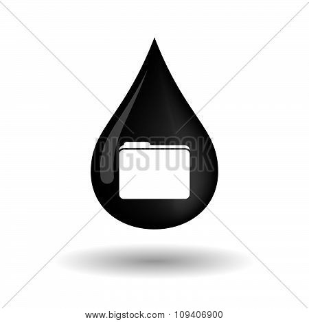 Vector Oil Drop Icon With A Folder
