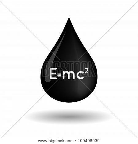 Vector Oil Drop Icon With A Graduation Cap