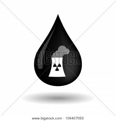 Vector Oil Drop Icon With A Work Helmet