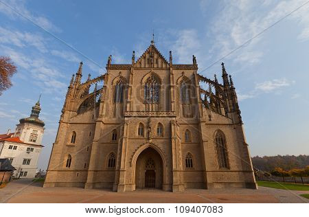 Cathedral Of St Barbara In Kutna Hora. Unesco Site
