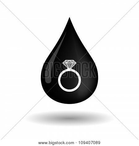 Vector Oil Drop Icon With An Engagement Ring