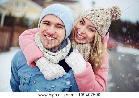 Happy healthy couple outdoors enjoying life