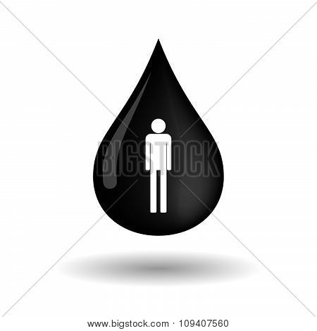 Vector Oil Drop Icon With A Male Pictogram
