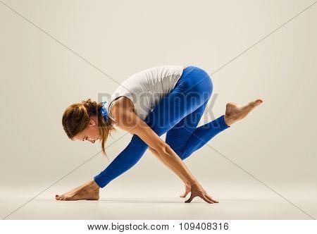 yoga pose. gymnastics