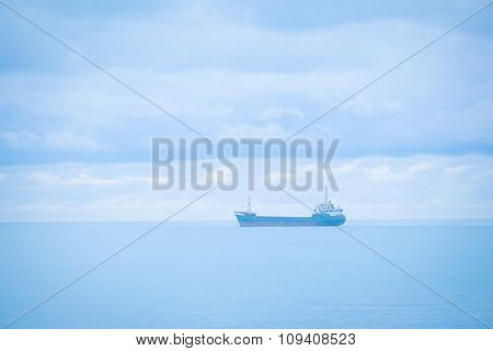 Ship in the open sea