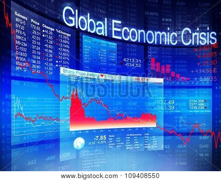 Global Economic Crisis Economic Stock Market Banking Concept