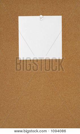 Note On A Bulletin Board