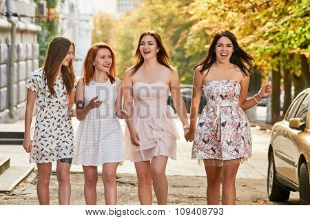 group of young women