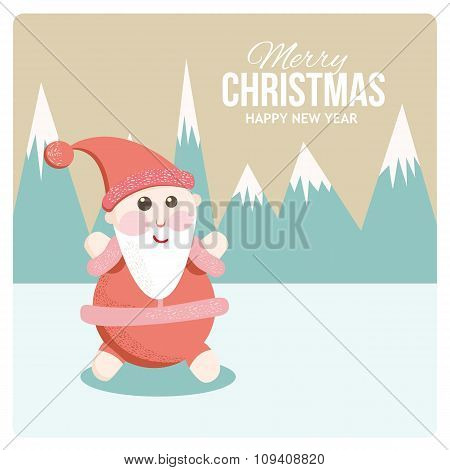 Satisfied Santa on holiday cards