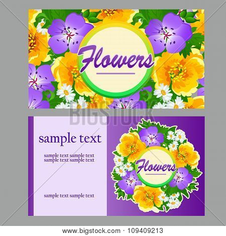 Two colorful cards for your business needs