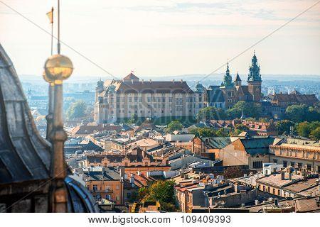 Aerial view on Wawel castle
