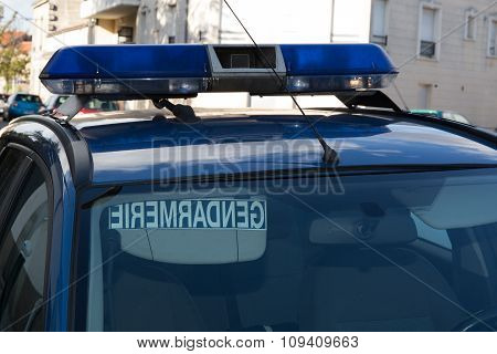 Car Of French Police Semi-military Police Force In France