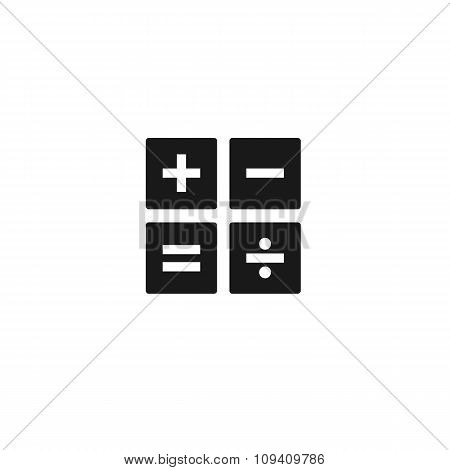 Black Calculator Pattern Line Icon Set