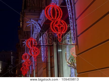 Christmas Decoration Showcases The City At Night