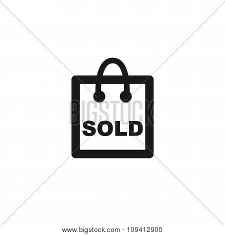 Black Sold Color Line Icon