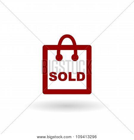Shop Sold Color Line Icon