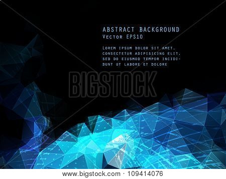 Abstract vector background. Triangle pattern.