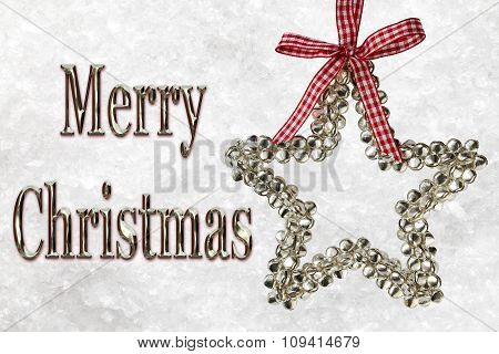 Merry Christmas Message With Silver Star