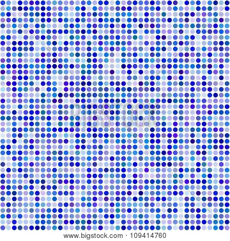Blue circle pixel mosaic background