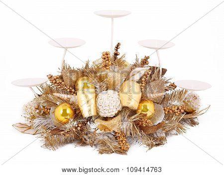 Decorative christmas candle holder