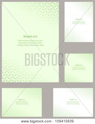 Green page corner design template