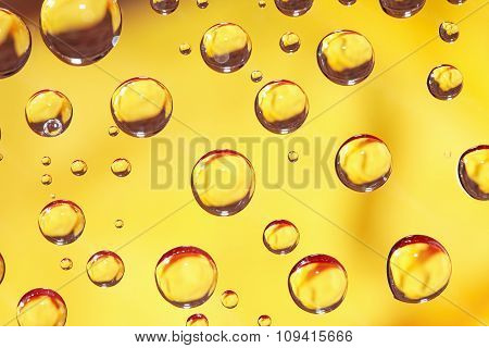 Yellow Drops Background