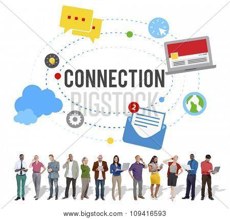Connection Community Teamwork Technology Concept