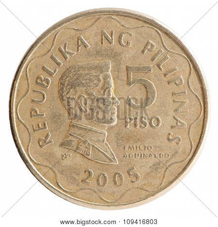 Philippine Piso Coin 5
