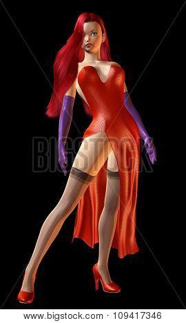 Digital 3D Illustration Of A Glamorous Female