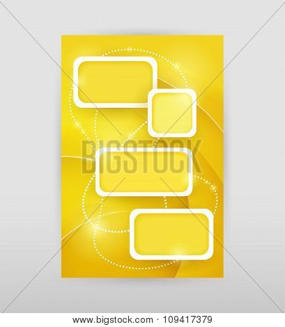 Yellow infographic template