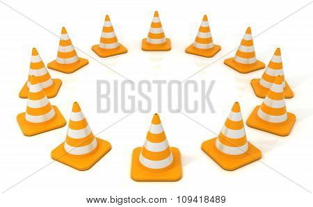 Traffic cone 3D isolated