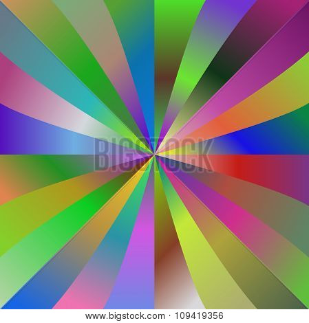 Multicolor gradient ray background design