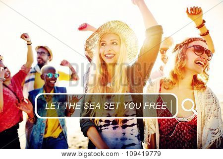 Sea Free Summer Leisure Friendship Holiday Vacation Concept