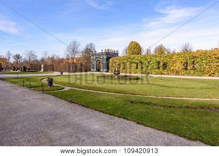 Beautiful park landscape