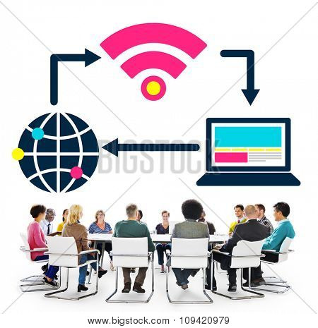 Social Network Technology Internet Connection Concept