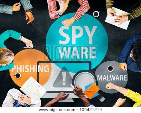 Spyware Hacking Phishing Malware Virus Concept