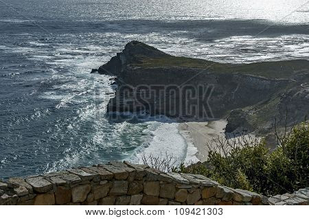 Scenic view to Cape of good hope