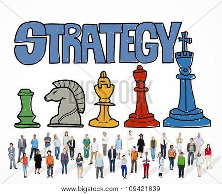 Strategy Thinking Planning Business Marketing Concept