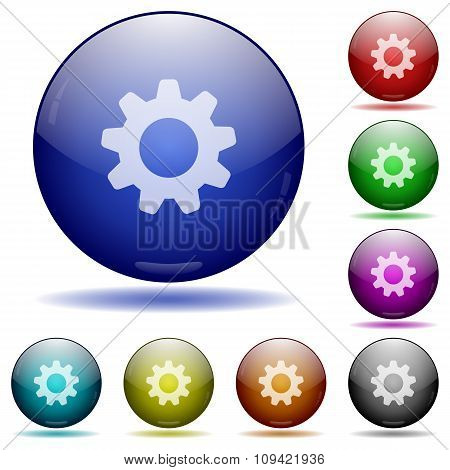 Settings Glass Sphere Buttons