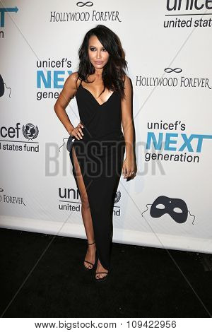 LOS ANGELES - OCT 30:  Naya Rivera at the 2nd Annual UNICEF Masquerade Ball at the Hollywood Forever on October 30, 2014 in Los Angeles, CA